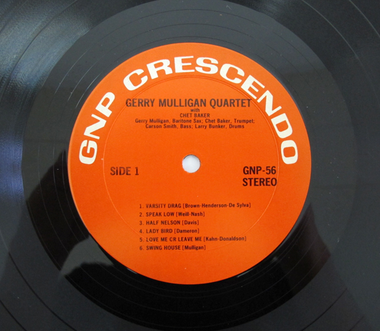 価格応談◆GERRY MULIGAN/CHET BAKER ◆GNP CRESCENDO 米 深溝3