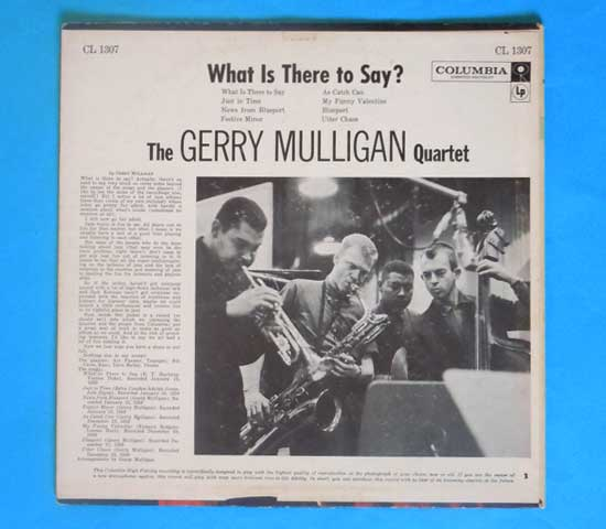◆GERRY MULLIGAN/WHAT IS THERE….◆COLUMBIA 米!深溝 6EYES2