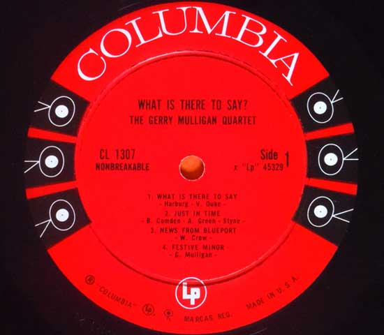 ◆GERRY MULLIGAN/WHAT IS THERE….◆COLUMBIA 米!深溝 6EYES3