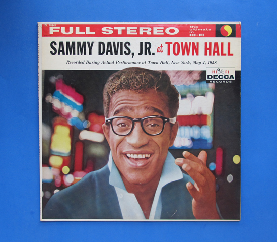 ◆SAMMY DAVIS AT TOWN HALL◆DECCA RECORD 米深溝