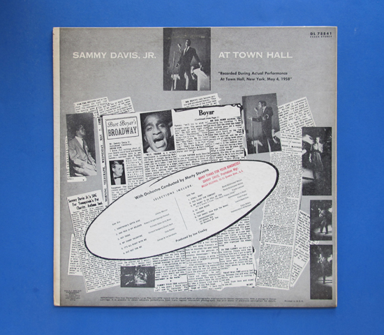 ◆SAMMY DAVIS AT TOWN HALL◆DECCA RECORD 米深溝2