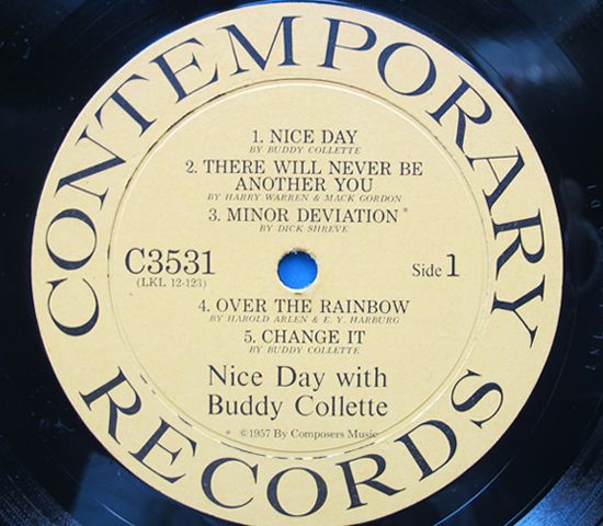◆BUDDY COLLETTE/NICE DAY WITH BUDDY◆CONTEMPORARY 米!深溝3