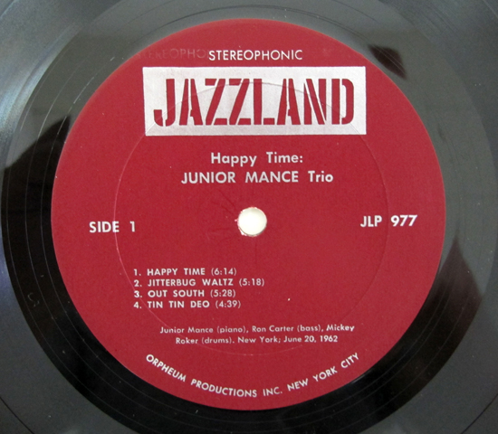 価格応談◆JUNIOR MANCE TRIO / HAPPY TIME ◆JAZZLAND 米3