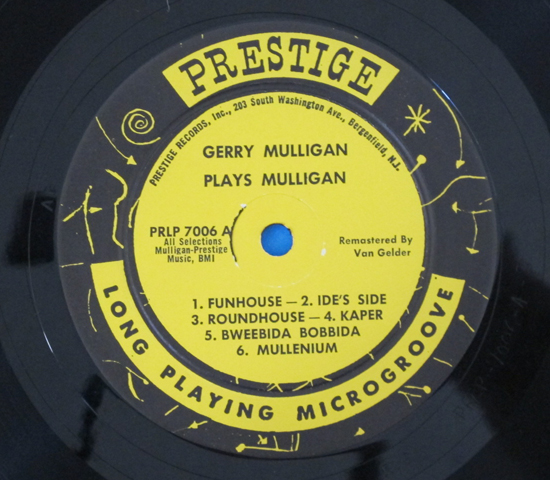 価格応談◆GERRY MULLIGAN PLAYS MULLIGAN◆PRESTIGE 米深溝 RVG3
