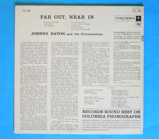 ◆JOHNNY EATON/FAR OUT, NEAR IN◆COLUMBIA 米!深溝 6EYES2