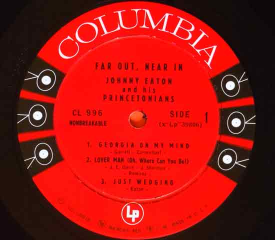 ◆JOHNNY EATON/FAR OUT, NEAR IN◆COLUMBIA 米!深溝 6EYES3