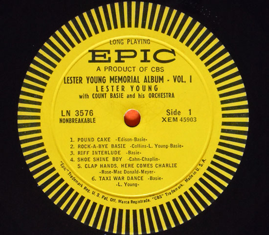 ◆LESTER YOUNG & COUNT BASIE 他/VOL1◆EPIC 米!深溝3