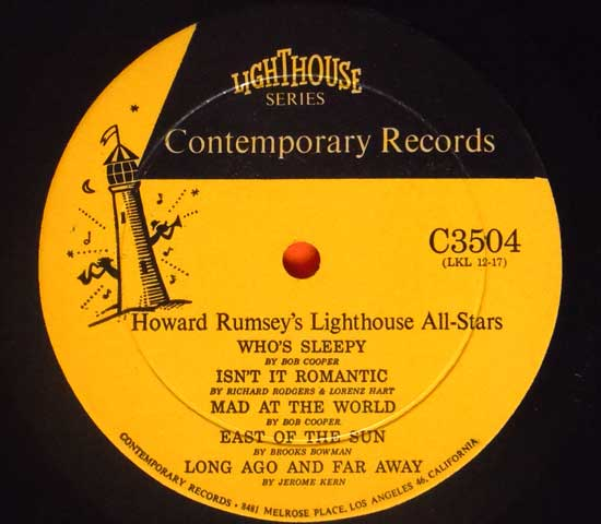 ◆HOWARD RUMSEY'S LIGHTHOUSE ALL STARS◆CONTEMPORARY 米!深溝3