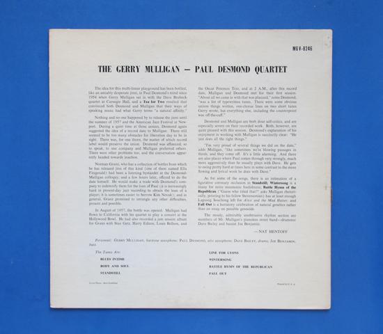 ◆GERRY MULLIGAN & PAUL DESMOND 他◆CLEF トランペット 米深溝2