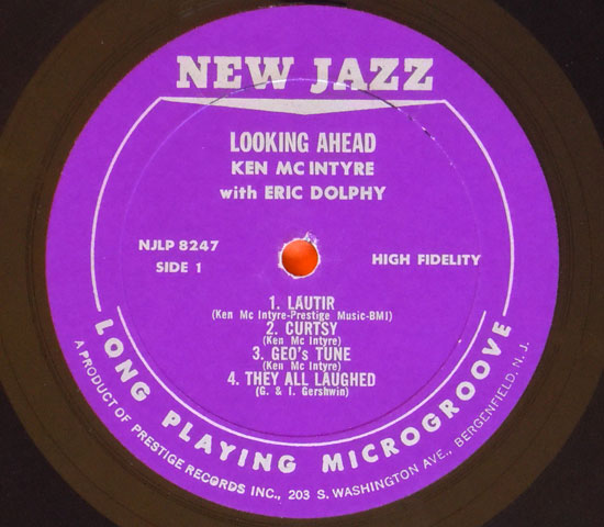 ◆KEN MC INTYRE/LOOKING AHEAD◆NEW JAZZ 米盤 RVG刻印2