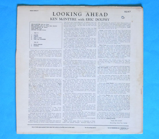◆KEN MC INTYRE/LOOKING AHEAD◆NEW JAZZ 米盤 RVG刻印3