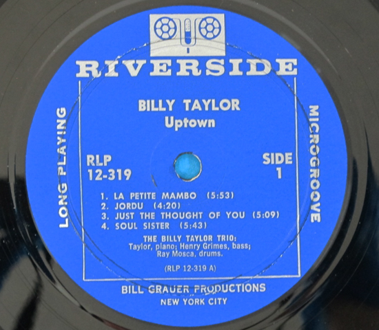 価格応談◆BILLY TAYLOR/UPTOWN◆RIVERSIDE 米深溝3