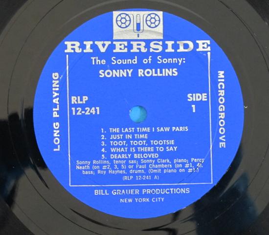 価格応談◆SONNY ROLLINS◆ RIVERSIDE 米深溝3