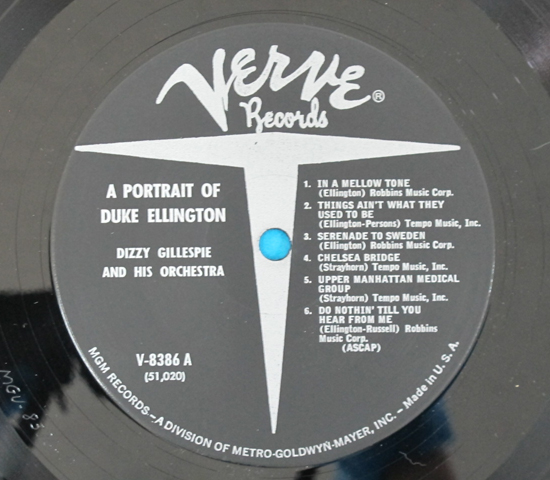 価格応談◆DUKE ELLINGTON&DIZZY GILLESPIE◆VERVE 米深溝3