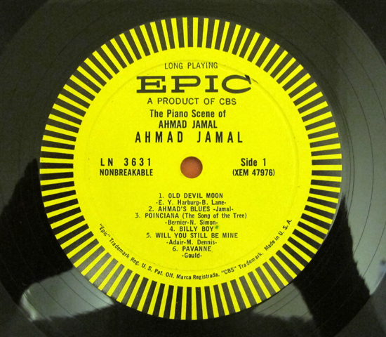 価格応談◆THE PIANO SCENE OF AHMAD JAMAL◆ EPIC 米深溝3