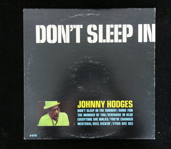 価格応談◆JOHNNY HODGES ◆VERVE 米 深溝 プロモ2