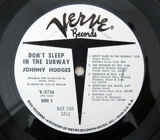 価格応談◆JOHNNY HODGES ◆VERVE 米 深溝 プロモ3