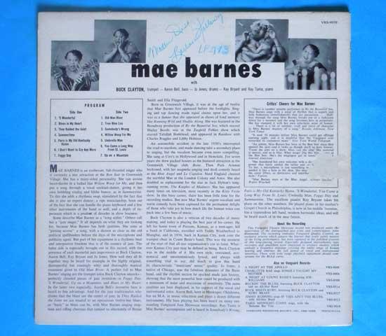 ◆MAE BARNES & BUCK CLAYTON◆VANGUARD 米!深溝 プロモ2