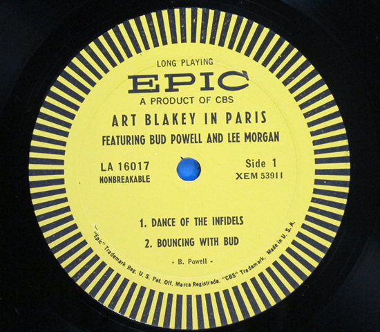 ◆ART BLAKEY & BUD POWELL & LEE MORGAN 他◆ EPIC 米盤3