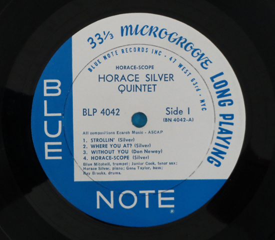 価格応談◆THE HORACE SILVER QUINTET◆BLUENOTE 米深溝63rd RVG3