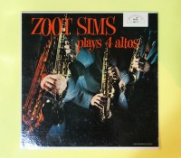 価格応談◆ZOOT SIMS PLAYS 4 ALTOS◆ABC-PARAMOUNT 米深溝 MONO